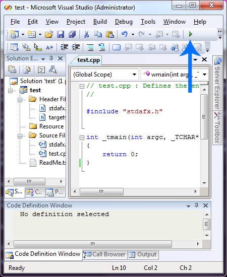 visual-studio-2008-run