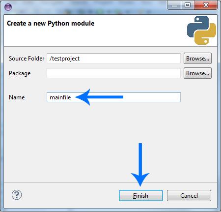 eclipse python new module