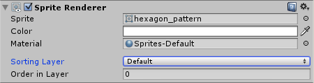 Hexagon SpriteRenderer with default sorting layer