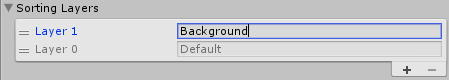 Background Sorting Layer