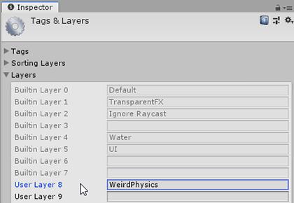 Weird Physics Layer