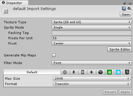 Default Element Import Settings