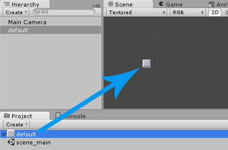 Drag Default Element into Scene