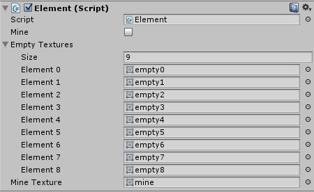 Element Script Texture Slots filled