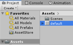 Default Element in Project Area