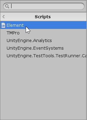 Element Script in Inspector