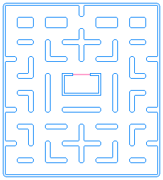 pac man maze - Pac Man Characters Coloring Pages