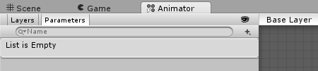 Animator Parameters Tab