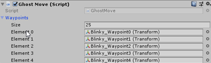 Blinky GhostMove Script with Waypoints