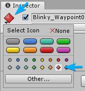 Blinky Waypoint 0 in Inspector