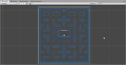 Maze BoxCollider in Scene
