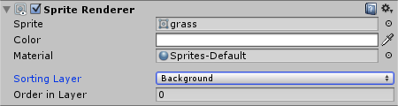 Grass SpriteRenderer with Background Sorting Layer