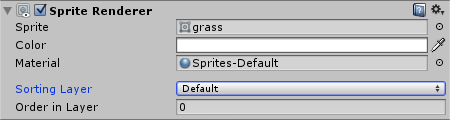 Grass SpriteRenderer with default Sorting Layer