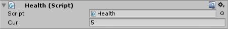 Health Script in Inspector