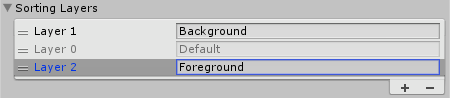 Add Foreground Sorting Layer