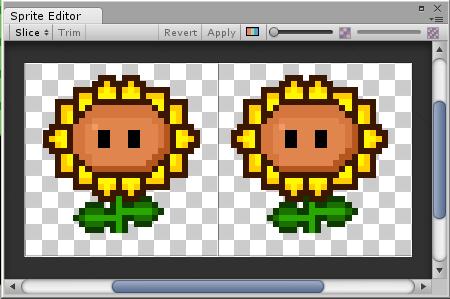Sunflower in Sprite Editor