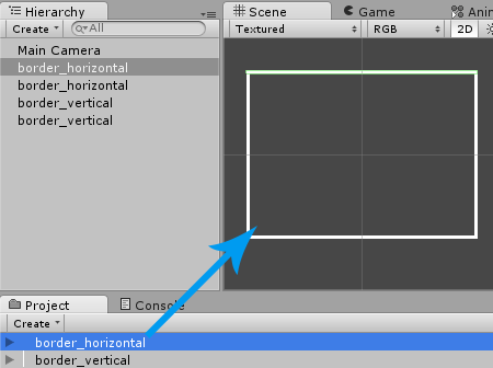 Drag Borders into Scene