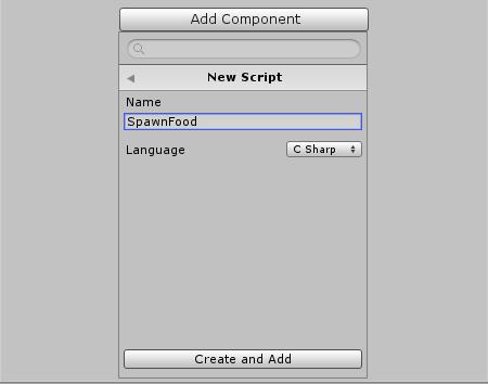 Create SpawnFood Script