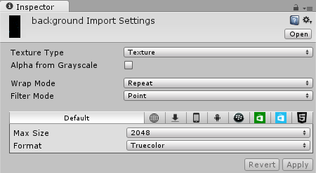 Background Import Settings
