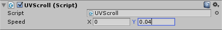 UV Scroll in Inspector with Speed