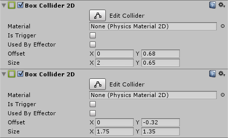 Pipe Colliders in Inspector