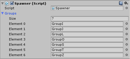 Spawner in Project Area with Groups