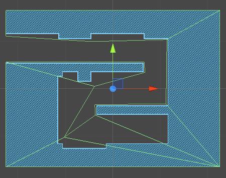 blue level default Collider in Scene