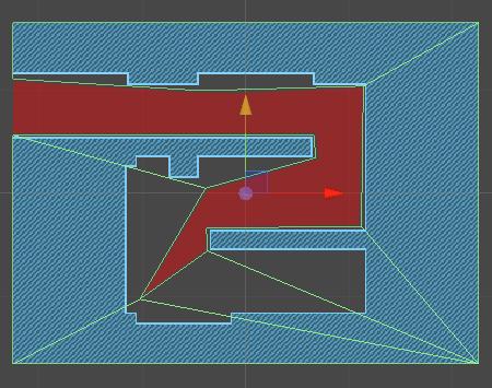 blue level default Collider in Scene, marked