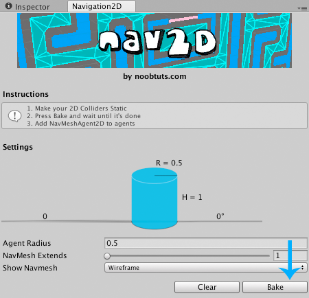 Unity Navigation2D Window