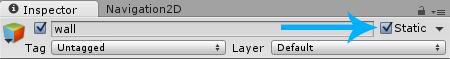 Unity Navigation2D Static