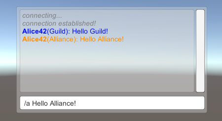 MMORPG alliance chat example message