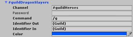 MMORPG Guild chat