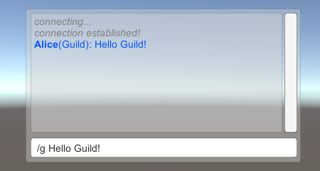 MMORPG Guild chat example message