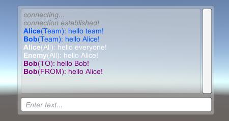 Unity MOBA Chat ingame