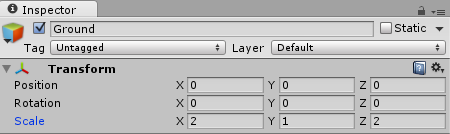 Unity RTS Ground Parameters