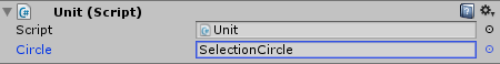 Unit Script with Selection Circle
