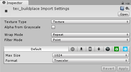 Buildplace Import Settings