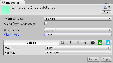Ground Texture Import Settings