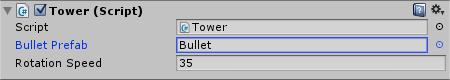 Tower Bullet Prefab