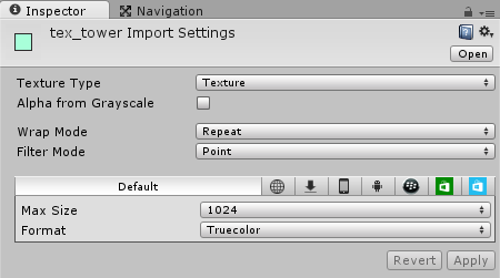 Tower Import Settings